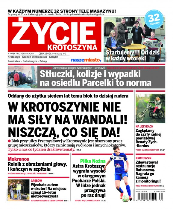 POZ Tygodniki - wtorekTabloid - 2014-10-07 : 1 strona : ¯ycie K