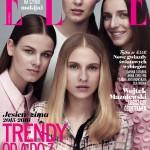 """Okładka """"Elle"""" z czterema modelkami"""