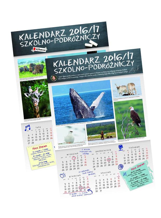 kalendarz szkolono-podróżniczy