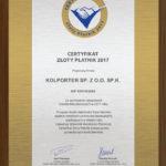 Kolporter z certyfikatem Złotego Płatnika